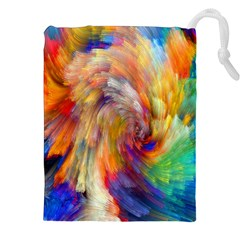 Rainbow Color Splash Drawstring Pouches (xxl) by Mariart