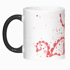 Love Heart Butterfly Pink Leaf Flower Morph Mugs by Mariart