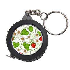 Strawberry Fruit Leaf Flower Floral Star Green Red White Measuring Tapes by Mariart
