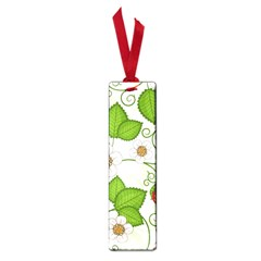 Strawberry Fruit Leaf Flower Floral Star Green Red White Small Book Marks by Mariart