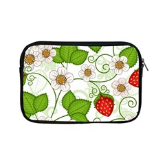 Strawberry Fruit Leaf Flower Floral Star Green Red White Apple Ipad Mini Zipper Cases by Mariart