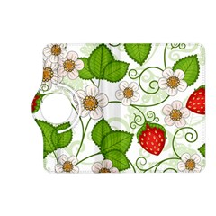 Strawberry Fruit Leaf Flower Floral Star Green Red White Kindle Fire Hd (2013) Flip 360 Case by Mariart