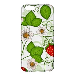 Strawberry Fruit Leaf Flower Floral Star Green Red White Apple Iphone 6 Plus/6s Plus Hardshell Case by Mariart