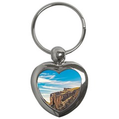 Rocky Mountains Patagonia Landscape   Santa Cruz   Argentina Key Chains (heart)  by dflcprints