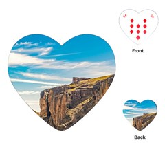 Rocky Mountains Patagonia Landscape   Santa Cruz   Argentina Playing Cards (heart)  by dflcprints