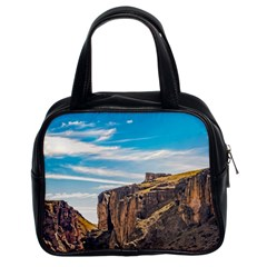 Rocky Mountains Patagonia Landscape   Santa Cruz   Argentina Classic Handbags (2 Sides) by dflcprints