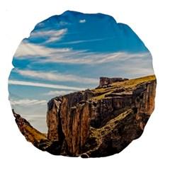 Rocky Mountains Patagonia Landscape   Santa Cruz   Argentina Large 18  Premium Round Cushions by dflcprints