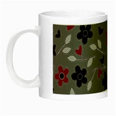 Floral Pattern Night Luminous Mugs by Valentinaart