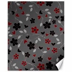 Floral Pattern Canvas 11  X 14   by Valentinaart