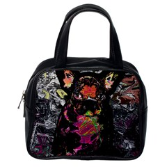 Bulldog Classic Handbags (one Side) by Valentinaart