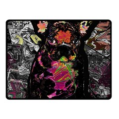 Bulldog Fleece Blanket (small) by Valentinaart