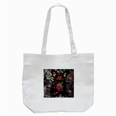 Bulldog Tote Bag (white) by Valentinaart