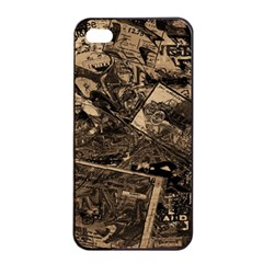 Vintage Newspaper  Apple Iphone 4/4s Seamless Case (black) by Valentinaart