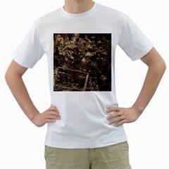 Vintage Newspaper  Men s T Shirt (white)  by Valentinaart