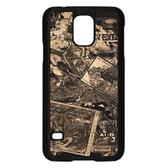 Vintage Newspaper  Samsung Galaxy S5 Case (black) by Valentinaart