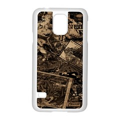 Vintage Newspaper  Samsung Galaxy S5 Case (white) by Valentinaart