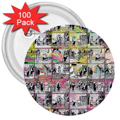 Comic Book  3  Buttons (100 Pack)  by Valentinaart
