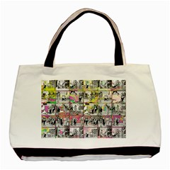 Comic Book  Basic Tote Bag (two Sides) by Valentinaart