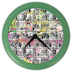 Comic Book  Color Wall Clocks by Valentinaart