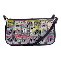 Comic Book  Shoulder Clutch Bags by Valentinaart