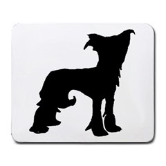 Chinese Crested Silo Black Large Mousepads by TailWags