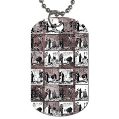 Comic Book  Dog Tag (two Sides) by Valentinaart