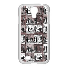 Comic Book  Samsung Galaxy S4 I9500/ I9505 Case (white) by Valentinaart