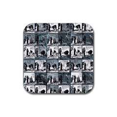 Comic Book  Rubber Square Coaster (4 Pack)  by Valentinaart