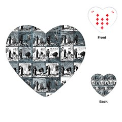 Comic Book  Playing Cards (heart)  by Valentinaart