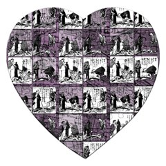 Comic Book  Jigsaw Puzzle (heart) by Valentinaart