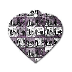 Comic Book  Dog Tag Heart (one Side) by Valentinaart