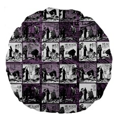 Comic Book  Large 18  Premium Round Cushions by Valentinaart