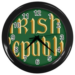 The Irish Republic Flag (1916, 1919 1922) Wall Clocks (black) by abbeyz71