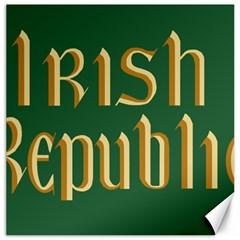 The Irish Republic Flag (1916, 1919 1922) Canvas 12  X 12   by abbeyz71