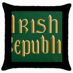 The Irish Republic Flag (1916, 1919 1922) Throw Pillow Case (black) by abbeyz71
