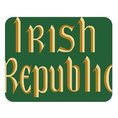 The Irish Republic Flag (1916, 1919 1922) Double Sided Flano Blanket (large)  by abbeyz71