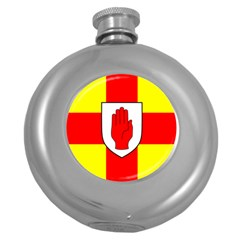 Flag Of The Province Of Ulster  Round Hip Flask (5 Oz) by abbeyz71