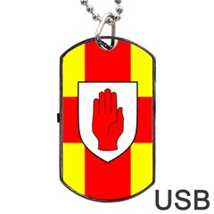 Flag Of The Province Of Ulster  Dog Tag Usb Flash (one Side) by abbeyz71