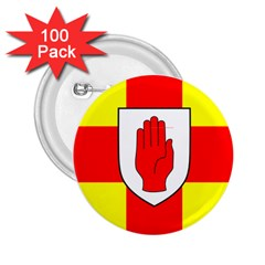 Flag Of The Province Of Ulster  2 25  Buttons (100 Pack)  by abbeyz71