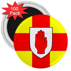 Flag Of The Province Of Ulster  3  Magnets (100 Pack) by abbeyz71