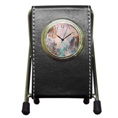 Cold Stone Abstract Pen Holder Desk Clocks by theunrulyartist