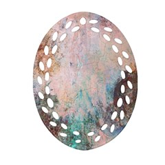 Cold Stone Abstract Oval Filigree Ornament (two Sides) by digitaldivadesigns