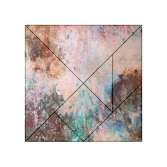 Cold Stone Abstract Acrylic Tangram Puzzle (4  X 4 ) by digitaldivadesigns