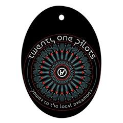 Twenty One Pilots Ornament (oval) by Onesevenart