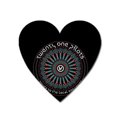 Twenty One Pilots Heart Magnet by Onesevenart