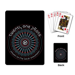 Twenty One Pilots Playing Card by Onesevenart