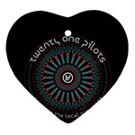 Twenty One Pilots Heart Ornament (Two Sides)