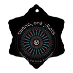 Twenty One Pilots Snowflake Ornament (Two Sides)