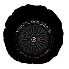 Twenty One Pilots Large 18  Premium Flano Round Cushions by Onesevenart