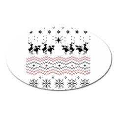 Ugly Christmas Humping Oval Magnet by Onesevenart